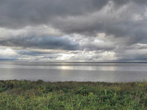 キムアネップ岬からサロマ湖を望む