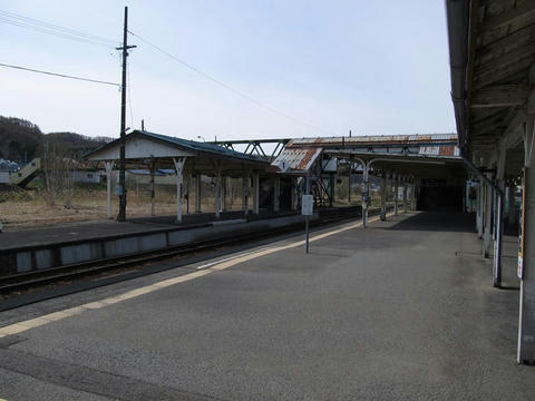 芦別駅ホーム