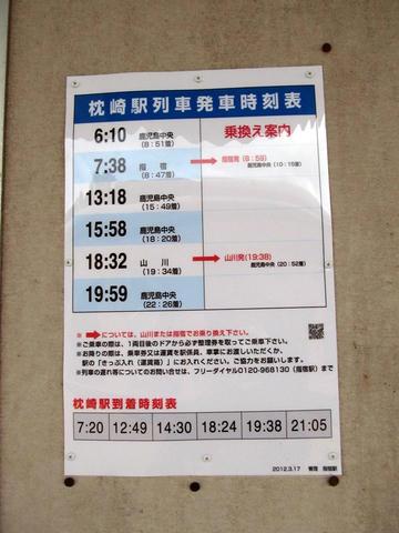 枕崎駅時刻表