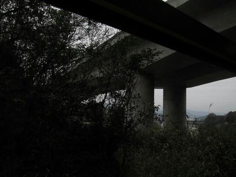 くま川鉄道が九州自動車道の高架をくぐる
