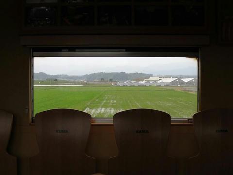 KT-103「KUMA2」から見たくま川鉄道沿線風景