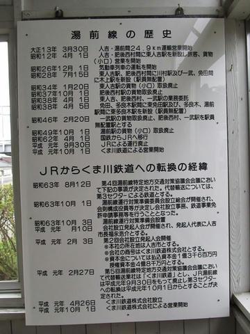 湯前線の歴史掲示@湯前駅