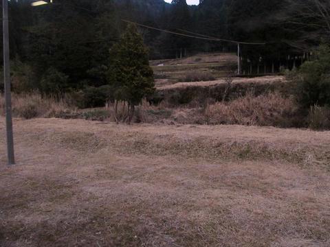 矢岳駅の対向ホーム跡