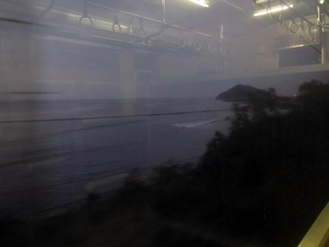 早朝の日南線沿線風景
