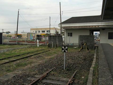 線路終端標識@志布志駅