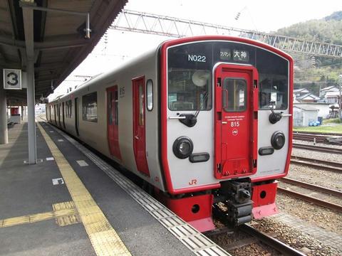 815系N022編成@佐伯駅