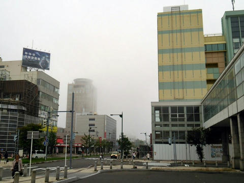 苫小牧駅南口駅前風景
