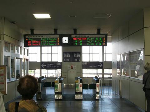 東室蘭駅改札口