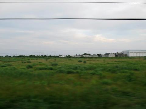 函館本線国縫付近沿線風景