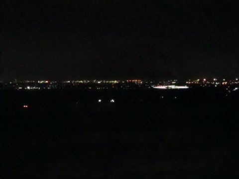 函館本線仁山付近沿線夜景