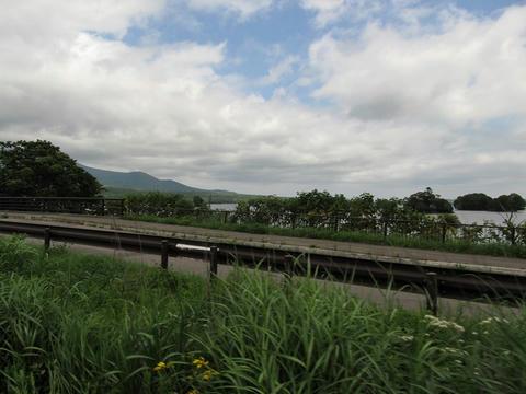函館本線車内から見た大沼