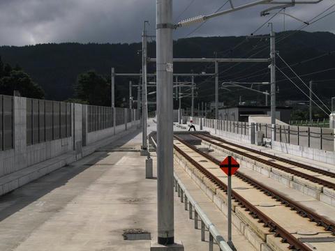 新函館北斗駅札幌方を望む