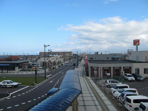木古内駅南口風景