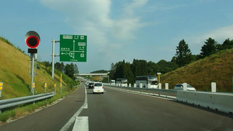赤川IC付近