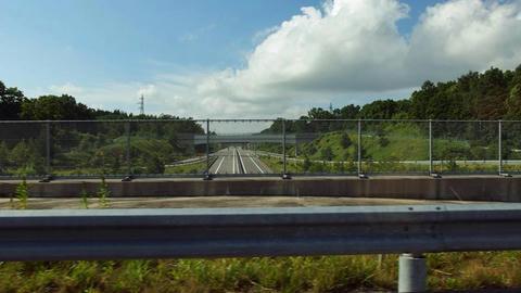 黒松内JCTから黒松内本線料金所を望む