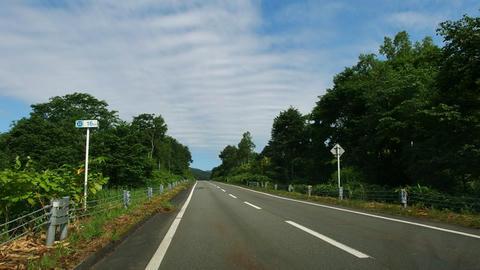 道道32号豊浦ニセコ線16kmポスト