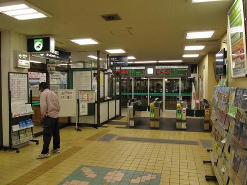 滝川駅改札口