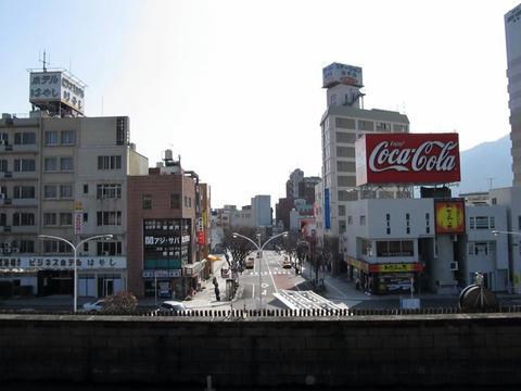 別府駅前風景
