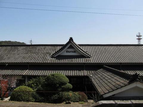 豊後竹田駅ホームから見た駅舎