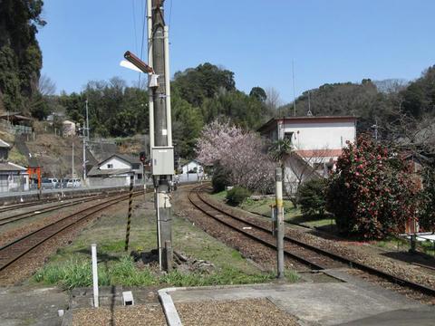 豊後竹田駅から大分方面を望む