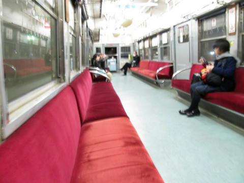 熊本電鉄5102A車内