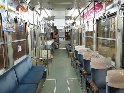 熊本市電8502車内