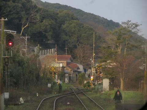 三角線前面風景@網田駅