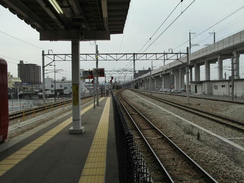 JR久留米駅から熊本方面を望む
