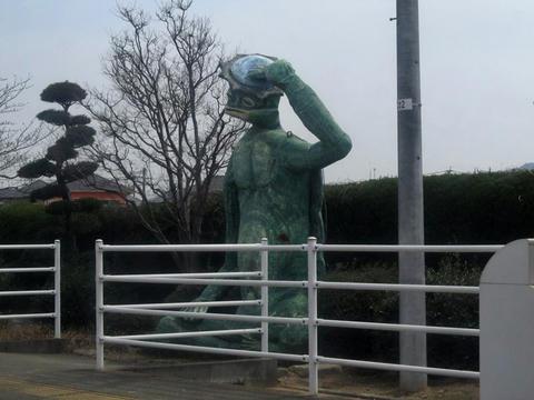 河童像@田主丸駅