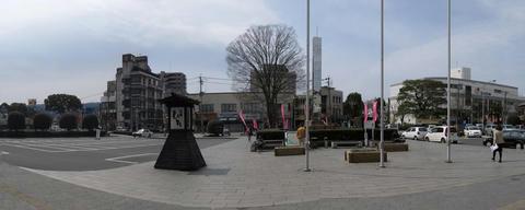 日田駅前風景パノラマ