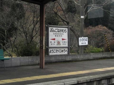 豊後中村駅駅名票