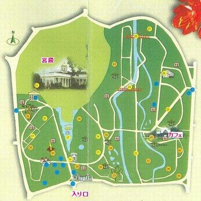 ボゴール植物園 地図