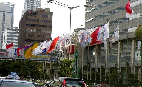各政党の旗