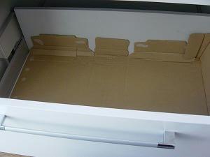 ビールの空き箱収納1