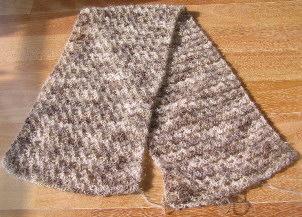 七宝編みのマフラー