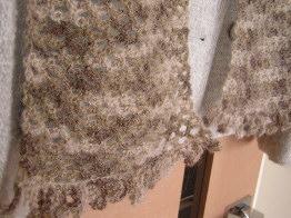 七宝編み マフラー