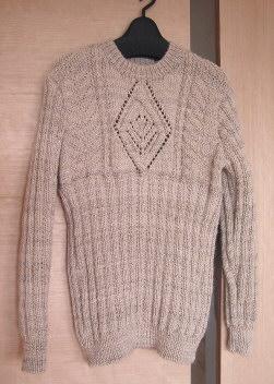 編んだセーター