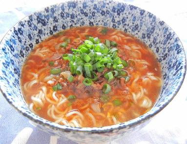 ぽんぽこラーメン味噌味で坦々麺