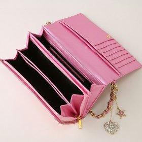 DECOBA スパークリングエナメルロングウォレット : 財布