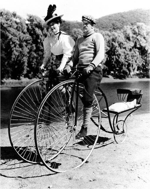 ... 斬る! 昔の二人乗り自転車 : 自転車 二人乗り : 自転車の