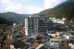 湯村温泉宿泊旅館からの風景
