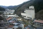 旅館からの湯村温泉の景色