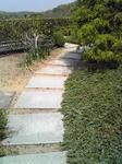 明石城の屋上庭園の石畳