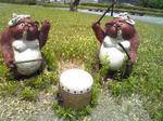 信楽の陶芸の森狸ばやし像