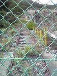 神子畑選鉱所跡のケーブルの線路