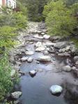 福知渓谷つり橋からの景色2