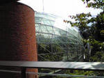 鳥取花回廊の温室の横