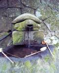 石見銀山遺跡の神社の手洗い