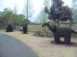 花回廊 動物の形の木