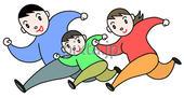 「家族・ファミリー・親子」 イラスト素材ダウンロード販売